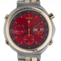 Ferrari Formula Chronograph Stahl Gelbgold Quarz Armband Stahl...