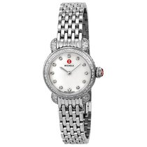 Michele CSX-26 Diamond Mother of Pearl Dial Stainless Steel...
