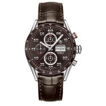 TAG Heuer Carrera 43mm Chrono Day Date Automatic Mens Watch...