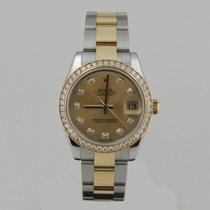 Rolex DATE JUST 31mm STEEL & GOLD DiAMOND BEZEL & DiAL...
