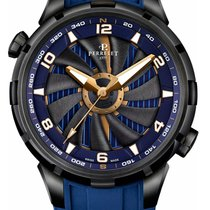 Perrelet Blue Turbine Yacht Gold Accents 47mm Men's Watch...