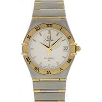 Omega Constellation 18K Yellow Gold & Stainless Steel...