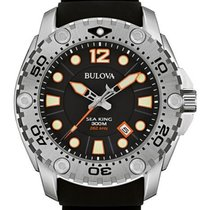Bulova Mens Sea King UHF Professional Dive Watch - Black -...