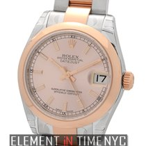 Rolex Datejust 31mm Steel & 18k Rose Gold Pink Index Dial