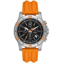 Traser H3 Extreme Sport Chronograph mit orangenem Silikonarmba...