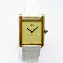 Cartier Tank Must de Cartier Silber vergoldet Handaufzug GM