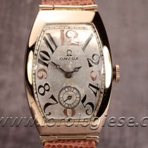 Omega Tank Tonneau Xl Vntage 1937 Solid Red Gold Watch Cal....