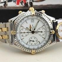 Breitling Chronomat UTC Chronograph Pilotband Gold Steel 39 mm...