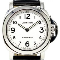 Panerai PAM 114 Luminor Base 44mm White Arabic Stainless Steel...