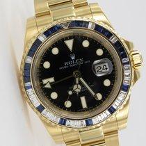 Rolex GMT-Master II Diamond & Sapphire Gelbgold 116748
