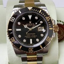 勞力士 (Rolex) Black Gold Steel Ceramic Submariner Date Diamond...