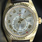 Rolex Sky-Dweller Yellow Gold on leather strap,Latest Model