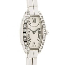 Cartier Lanieres Mini Tonneau 12072ce In 18kt White Gold