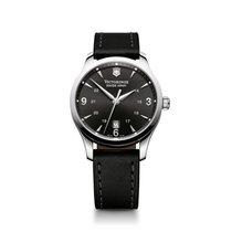 Victorinox Swiss Army Alliance quartz, black dial, cowskin, date