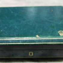 Rolex very rare vintage watch box green leather