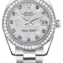 Rolex Datejust 31mm Stainless Steel 178384 Meteorite Diamond...