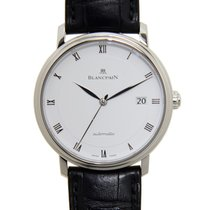 Blancpain Villeret Stainless Steel White Automatic 6223-1127-55B