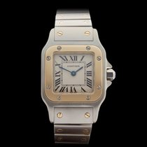 Cartier Santos Galbee Stainless Steel/18k Yellow Gold Ladies 1567