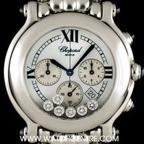 Chopard Stainless Steel Happy Sport Chronograph B&P...