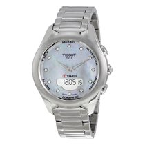 Tissot T-Touch Solar Mother of Pearl Diamond Dial Ladies Watch...
