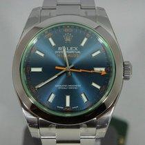 Rolex Milgauss 116400GV Z-Blue Dial - Green Glass