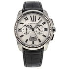 Cartier W7100046 42mm Stainless Steel Leather Strap Men's...