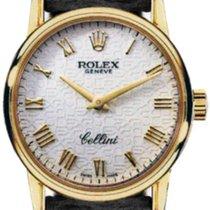 Rolex Cellini Ladies 5115-8 White Jubilee Roman Yellow Gold...