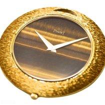Piaget Tiger Eye Keyless 18k Yellow Gold Watch Pendant Bj-1970...