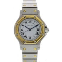 Cartier Ladies Cartier Santos 18K YG / SS Automatic