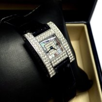 Chopard 18k Solid White Gold Ladies Watch All Factory Diamonds...