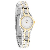 Concord Saratoga Ladies White Dial 18K Gold & SST Swiss...