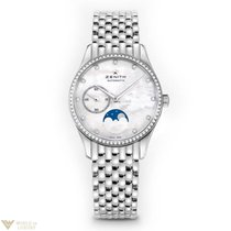 Zenith Elite Ultra Thin Moonphase Stainless Steel MOP Dial...