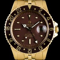 Rolex 18k Yellow Gold Brown Nipple Dial GMT-Master Vintage 1675