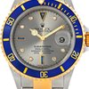 Rolex Submariner 16613 Steel Gold Diamond Sapphire Serti Dial...