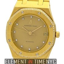 Audemars Piguet Royal Oak 18k Yellow Gold Factory Diamond...