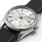 Rolex Mens 16014 Datejust - Silver Stick Dial - Leather Strap