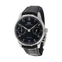 IWC Portugieser Automatic Black Strap Men's Watch