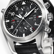 IWC [NEW] Pilot's Watch Double Chronograph Black IW377801