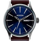 Nixon A105-1524 Sentry Leather Blue Brown 42mm 10ATM