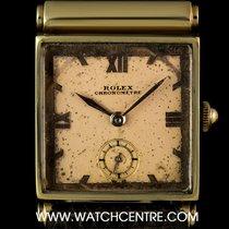 Rolex 9k Yellow Gold Cream Dial Chronometre Vintage Gents 3260