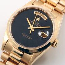 勞力士 (Rolex) 18K YG President Factory Black Onyx 18038