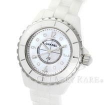 Chanel J12 White Ceramic Mother of Pearl Diamond Dial Quartz 33MM
