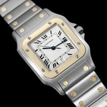 Cartier Santos Galbee Mens Watch with Date - Stainless Steel...
