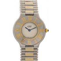 Cartier Midsize Must de Cartier 21 Stainless Steel Gold Plated...