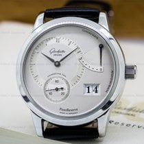 Glashütte Original PanoReserve SS Manual Wind Silver Dial 39MM