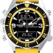 Chris Benz Depthmeter Digital CB-D200-YS-KBY Herrenchronograph...