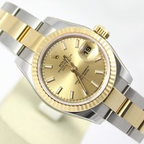 Rolex DATEJUST LADY CHAMPAGNE DIAL & 18CT GOLD & STEEL