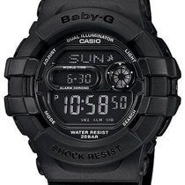 Casio Ladies All-Black Baby-G - Flash Alert and 3D Protection...
