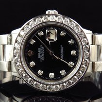 Rolex Mens Rolex 40MM Datejust Oyster Channel Set Stainless...