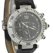 Cartier Pasha Stainless Steel Gray Chronograph Date 38mm Watch